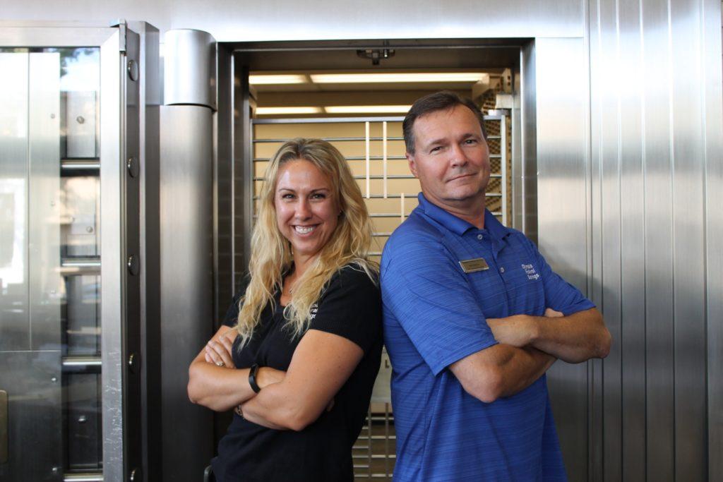 Carrie Whisler and Ken Pekola at Olympia Federal Savings